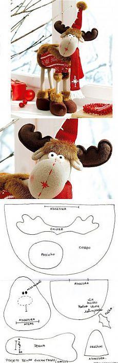 Рождественский олень — Мир вязания и рукоделия