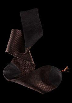 William Abraham - Luxury Socks for Men ● BLACK / TAUPE