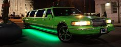 Check out this lime green limo in Raleigh, NC.