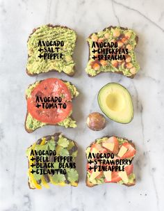 Avocado Toast 5 Ways - Vegan + Gluten-free   glutenfreeveganpantry.com