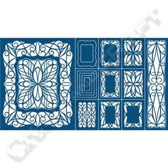 Tattered Lace Double Shutter Card Die Set. Can be used to create many other styles of card as well!