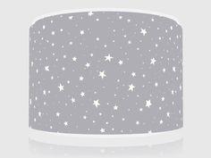 "STARRY NIGHT GREY STARS  LIGHT CEILING  LAMP SHADE 11"" BRAND NEW FREE  P & P"