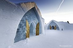 Hotel de Glace in Quebec City, Canada. The only one of its kind in North America.