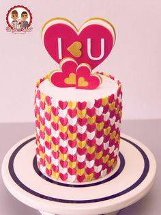 Cake Saint Valentin - Un Jeu d'Enfant - Cake design - #Nantes #UnJeudEnfant #Valentine #SaintValentin #Coeur #Heartcake #love #iloveu