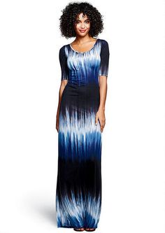 Abbie Elbow Sleeve Scoop Maxi Dress - Plus Size Dresses - Alloy Plus - Alloy Apparel