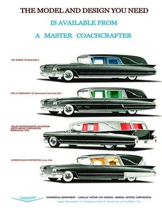 Hearse Brochure. Give me one of each.