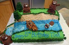 Beaver Nature Cake  on Cake Central