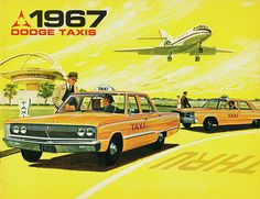 1967 Dodge Taxis by aldenjewell, via Flickr