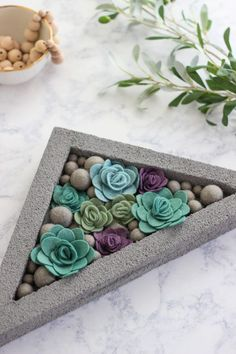 easy and inexpensive home decor craft that will fill your home with color and a modern flair.