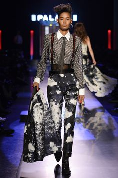 Yssauny Brito@ A Menswear-Inspired Look, tailored for women at Jean Paul Gaultier Haute Couture Show Spring/Summer 2016
