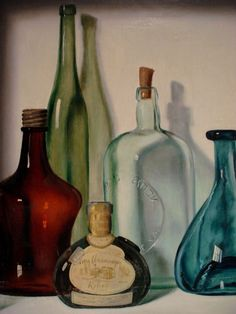 Lovely Bottles - reminds me a little of a painting by my dad