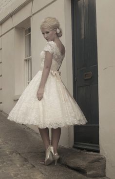 Gothic Fairy Wedding Dresses | FairyGothMother - Fifties style short wedding dress by Mooshki.