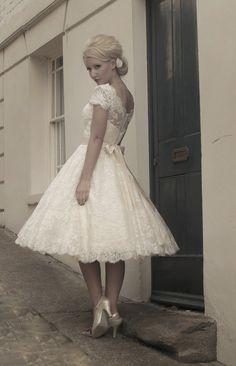 Gothic Fairy Wedding Dresses | FairyGothMother - Fifties style short wedding dress by Mooshki.