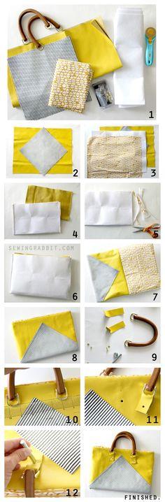 Yellow Leather Purse DIY