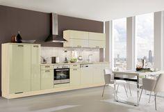 #Küche in Grün #Küchenzeile www.dyk360-kuechen.de