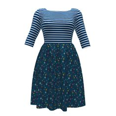 Colette Patterns Moneta Dress made with Spoonflower designs on Sprout Patterns.