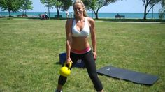Total Body Kettlebell Routine. Her body is SICK!!! repeat x3