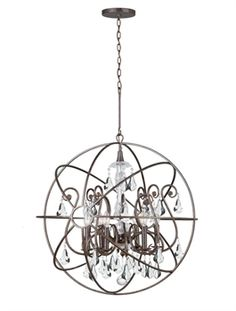 Show details for Crystorama Lighting 9028-EB-CL-MWP Chandeliers Solaris