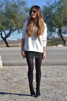 Skirt & Sweatshirt