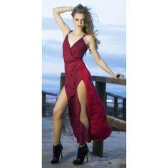 Vestido Rojo Largo Sienna VL55