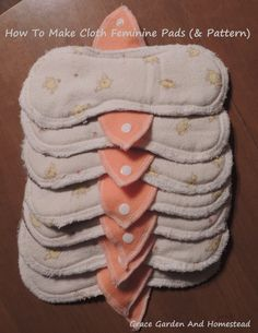 How to make cloth feminine pads, plus the pattern. These are great to have in your survival pack, or to make and send to third world countries to needy girls.