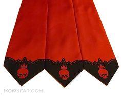 3 Mens Neckties Distressed Skull design print to order by RokGear