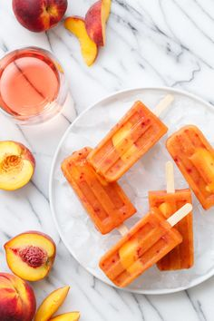 Vegan Peach Rosé Pop