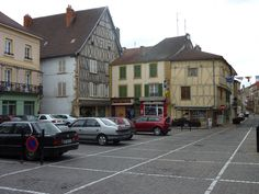 Marcigny, Brionnais town square. Market is located here weekly.