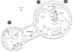 casa de adobe plano