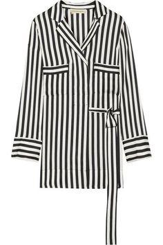 By Malene Birger - Lanfi Striped Satin Blouse - Black. Available here: http://rstyle.me/~9HX3K