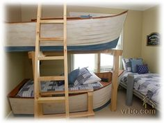 so cute! bunk boat beds. perfect for wittle boys.