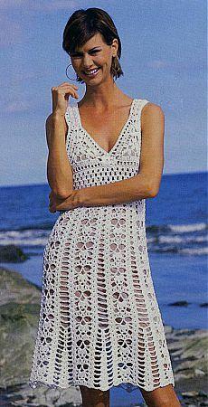 Сказочно красивое белое кружевное вязаное платье | Вязание спицами и крючком – Азбука вязания