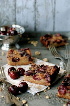 Cherry Brown Butter Bars by How To: Simplify, via Flickr