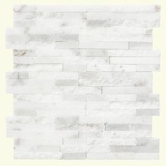 Jeffrey Court Churchill White Split Face 11.75 in. x 12.5 in. x 8 mm Marble Mosaic Wall Tile (5.5 lb. / Each)-99615 - The Home Depot $14.97/sq ft