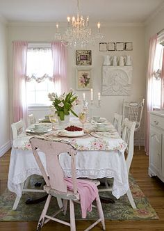 .loving this little pink chair! hummmmm I have almost that EXACT CHAIR! LOL