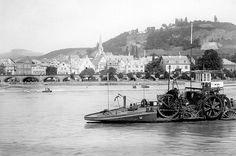 Seilschiff vor Linz am Rhein, 1893. (Stadtarchiv Linz am Rhein)