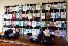 Learn How to Make a Clothespin Display Board with How To Video, Kay Kalthoff is Stamping to Share with Stampin' Up!, Greeting Card Display, Craft Room
