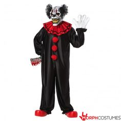The Last Laugh the Clown Mens Costume is the best 2019 Halloween costume for you to get! Everyone will love this Mens costume that you picked up from Wholesale Halloween Costumes! Evil Clown Costume, Clown Halloween Costumes, Halloween Circus, Horror Costume, Circus Costume, Jester Costume, Bloody Halloween, Halloween Foods, Halloween 2014