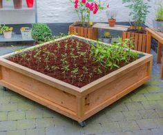 Square meter vegetable garden on wheels (Instructables)
