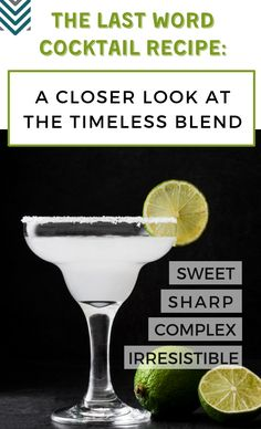 A Closer Look at the Timeless Blend The Last Word Cocktail Recipe combines gin, Maraschino Liqueur, Green Chartreuse and lime juice that give the drink sharp and complex flavors, which people have come to love. Sour Cocktail, Cocktail Mix, Cocktail Recipes, Cocktail Food, Drink Recipes, Purple Cocktails, Classic Cocktails, Thanksgiving Cocktails