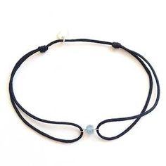 Bracelet fil 1 rubis, saphir ou émeraude - Senzou - The Gift Shop