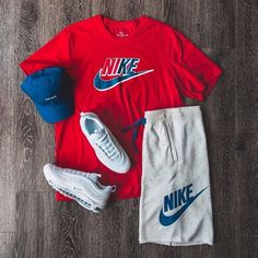 No photo description available. Cute Nike Outfits, Dope Outfits For Guys, Swag Outfits Men, Stylish Mens Outfits, Sporty Outfits, Cute Casual Outfits, Fashion Outfits, Hype Clothing, Mens Clothing Styles