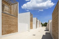 bauA, création de 23 logements sociaux - Maille 2 Architecture, Concrete, Exterior, Studio, House Styles, Design Ideas, Home Decor, Social Housing, Paisajes