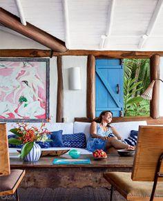 O refúgio da empresária Lia Udler, simples e acolhedor, é a cara do povoado baiano.