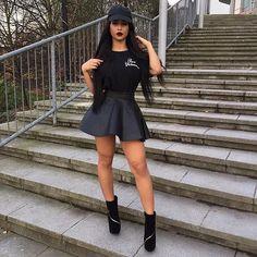 Black outfit shared by CoreGlow on We Heart It Mini Skirt Dress, Dress Up, Mini Skirts, Bodycon Dress, Lemy Beauty, We Heart It, Dope Fashion, Fashion Killa, Fashion Styles