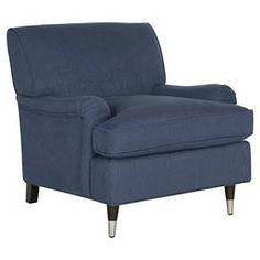 Chloe Club Chair Navy Blue - Safavieh : Target