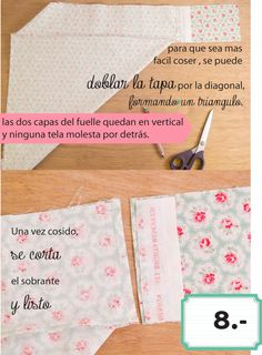 dobleufa: Almohadones acolchados (tutorial) Projects To Try, Patches, Crafts, Handmade, Diy, Blog, Ideas, Quilted Pillow, Refinished Furniture