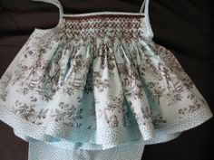 smocking and toile