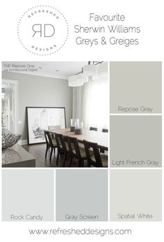 finding the perfect gray paint - the best Sherwin Williams greys and greiges