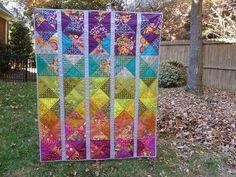 loveslavandula:  Spectrum quilt pattern by Alison Glass by Toohey Sews on Flickr.